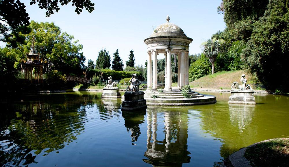 Pegli villa Pallavicini e il suo laghetto interno