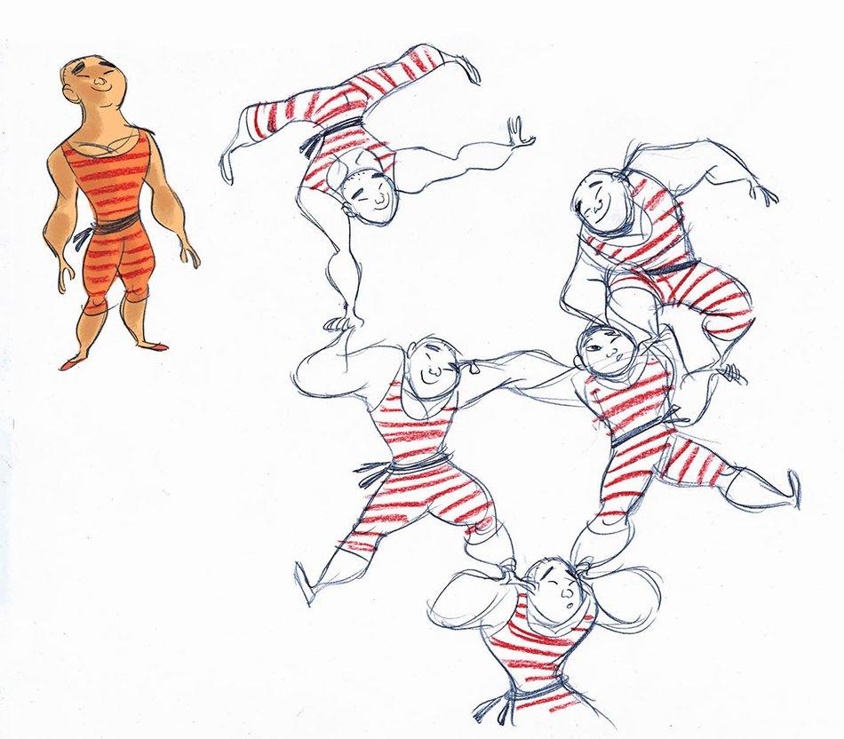 acrobati del circo nomade di viola giramondo