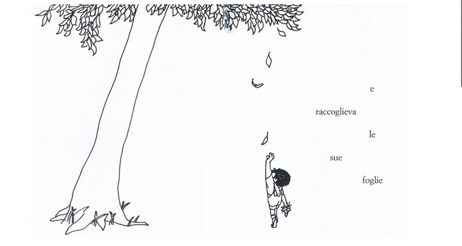 l'albero di Shel Silverstein illustrazione interna